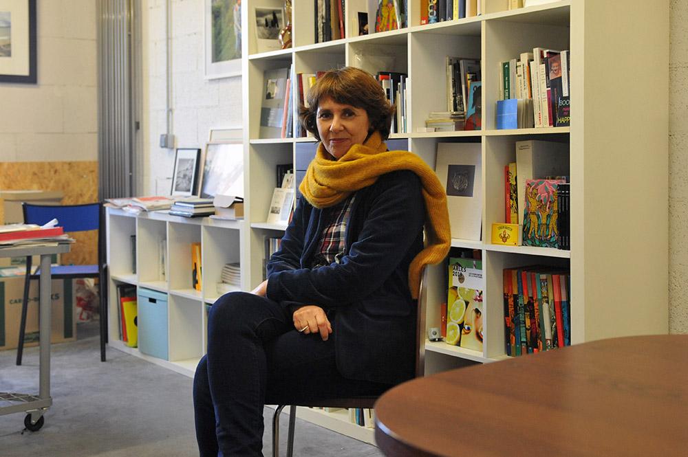 Fabienne Pavia, le 28 décembre 2020, dans les locaux du Bec en l'air à la Friche la Belle de Mai © Christophe Asso
